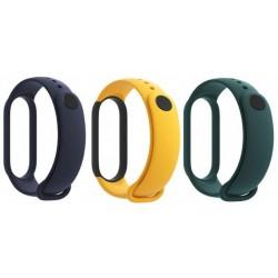 Correa para Xiaomi Mi Band 5 Pack de 3 Unidades Azul, Amarillo y Verde