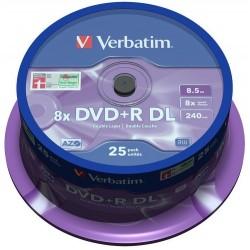 DVD+R DL Tarrina 25 Unidades Verbatim