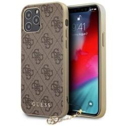 Carcasa para iPhone 12 Pro Max Guess 4G Charm Marrón