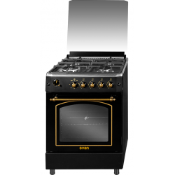 Cocina de Gas Svan SVK6601RN Rústica Negra