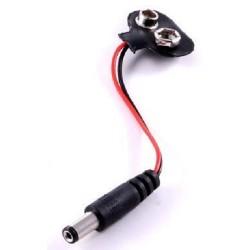 Clip para Pila de 9V con Cable y Conector DC
