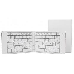 Teclado Bluetooth Leotec Mini Plegable Blanco