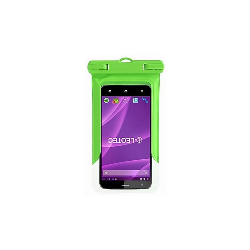Funda para Smartphone Acuática Leotec Verde