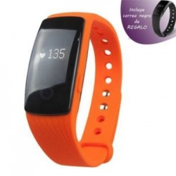 Fitness Leotec Bracelet Orange Touch Press