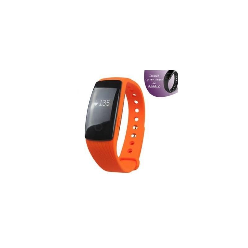 Pulsera Fitness Leotec Touch Pulse Naranja