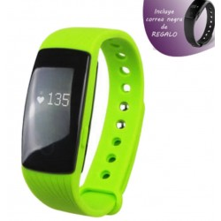 Fitness Bracelet Leotec Touch Press Verde