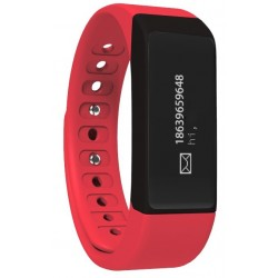 Smart Bracelet Fitness Leotec Red Touch