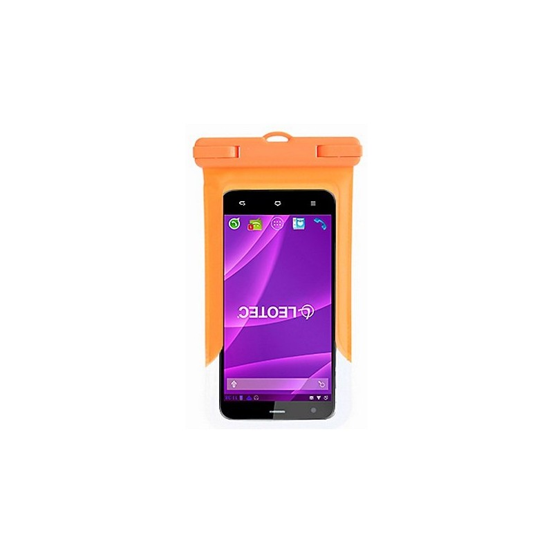 Funda para Smartphone Acuática Leotec Naranja