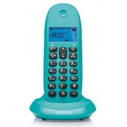 MOTOROLA TELEFONO INALAMBRICO C1001L SINGLE TURQUESA