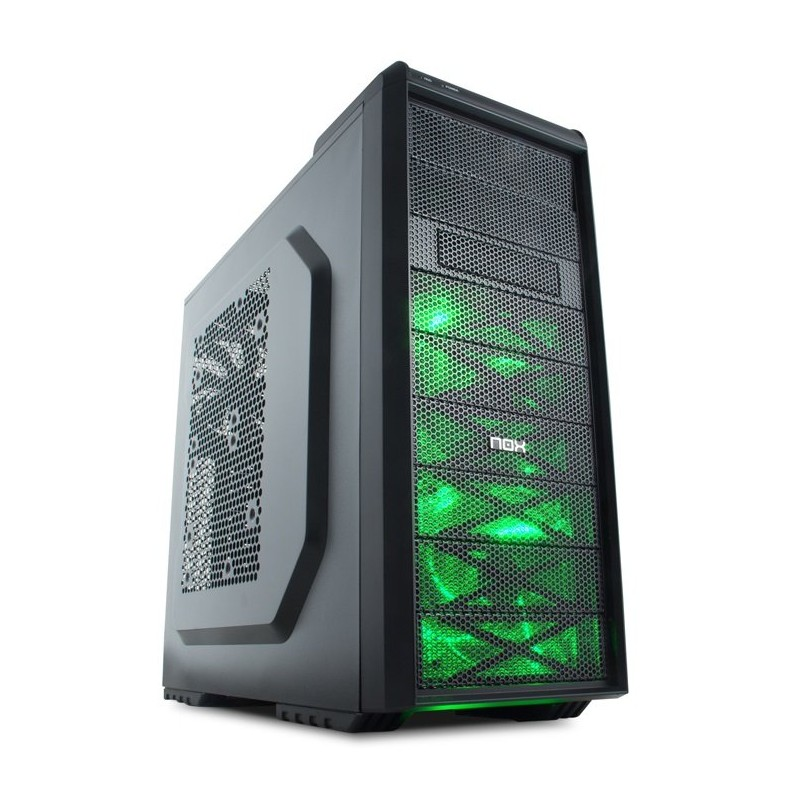 Carcasa ATX Nox Coolbay SX Green Edition