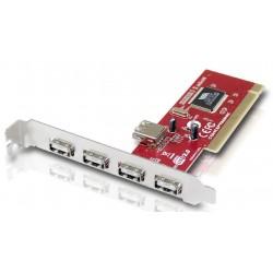 CONCEPTRONIC TARJETA PCI 4+1 PUERTOS USB C05-136
