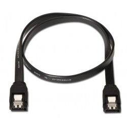 NANOCABLE CABLE SATA III DATOS 6G CON ANCLAJES NEGRO 0.5 M