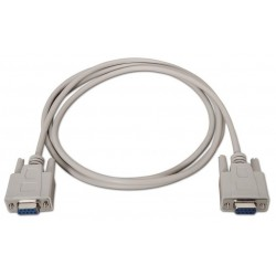 NANOCABLE CABLE SERIE NULL MODEM DB9/H-DB9/H 1.8 M