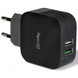 CELLY CARGADOR 2X MICRO USB TURBO NEGRO 3.4A