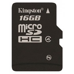 Tarjeta MicroSD 16GB Kingston SDC4