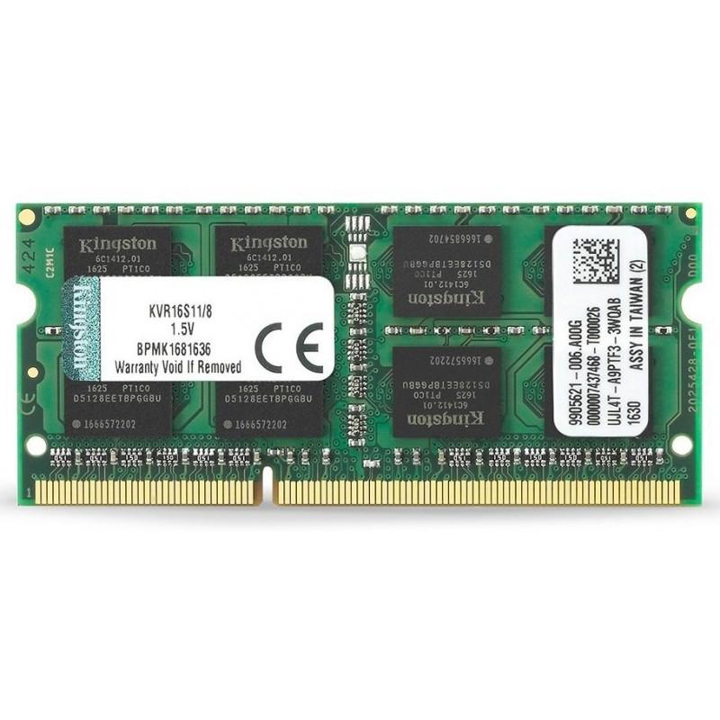 Memoria Sodimm DDR3 1600 8GB Kingston KVR16S11/8