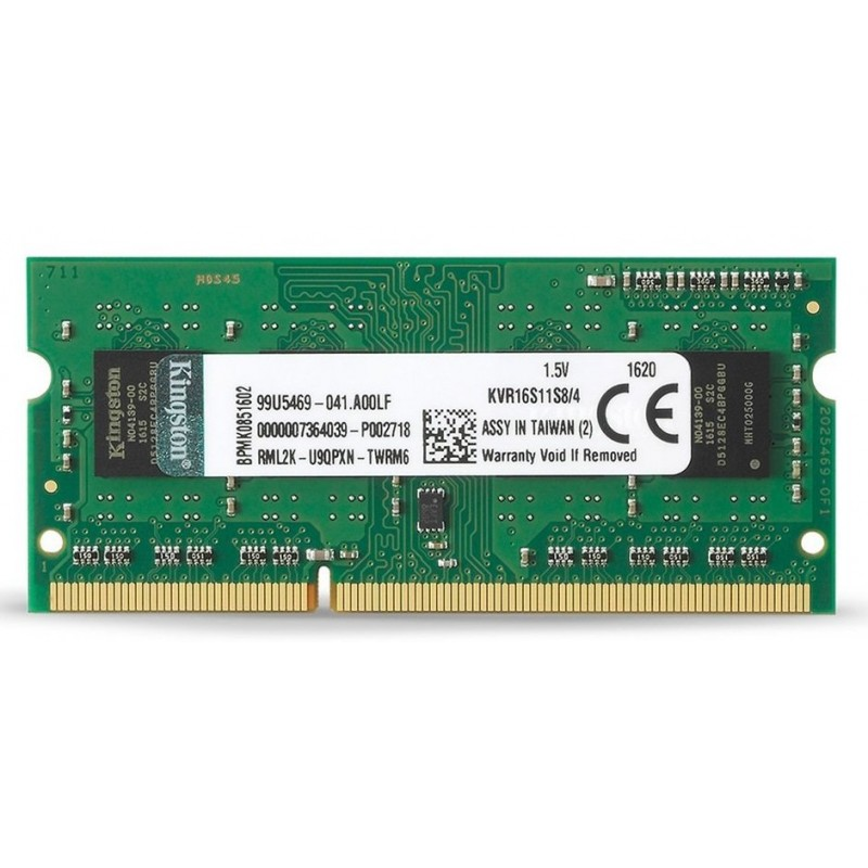 Memoria Sodimm DDR3 1600 4GB Kingston KVR16S11S8/4