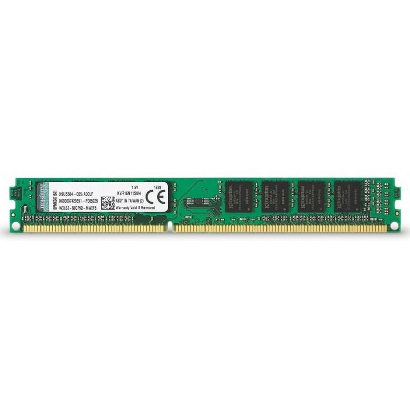 Memoria DDR3 1600 4GB Kingston KVR16N11S8/4