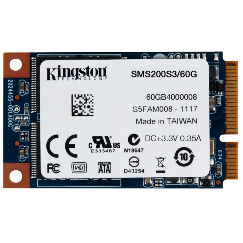 Disco SSD mSATA 60GB Kingston SSDNow mS200