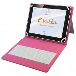 """Funda para Tablet de 10"""" E-Vitta KeyTab USB Rosa"""
