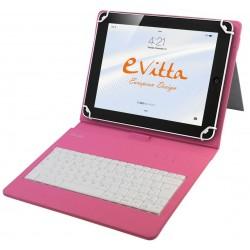 """Funda para Tablet de 7-8"""" E-Vitta KeyTab USB Rosa"""