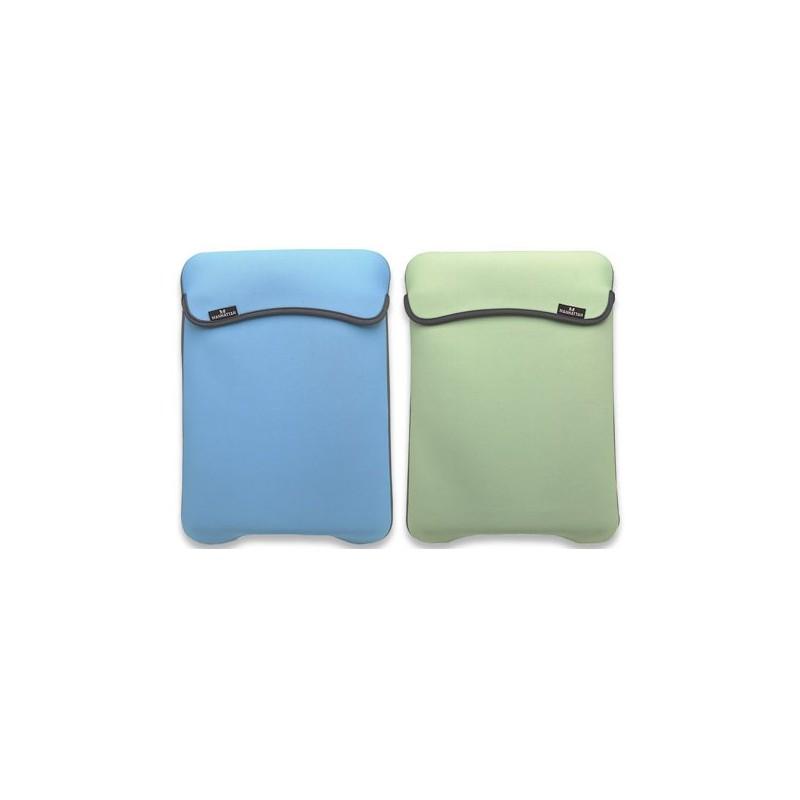 "Funda Portátil 14,1"" Manhattan Reversible Azul/Verde"