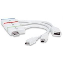 Hub USB / MiniUSB / MicroUSB Manhattan iLynk Hub+