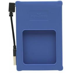"Caja USB Disco 2,5"" SATA Manhattan Azul"