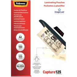 Laminating pouch A4 125 Micron Gloss Fellowes x100