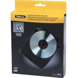 Fundas para CD o DVD 100 Unidades Fellowes