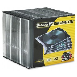 Caja CD/DVD Slim Jewel x25 Fellowes Clear