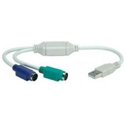 Adaptador de 2 PS2 H a USB AM Nilox