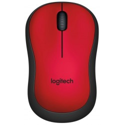 Logitech Wireless Mouse M220 Red Silent