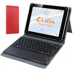 """Funda para Tablet de 10"""" E-Vitta KeyTab BT Touchpad Roja"""