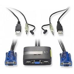 2 kvm USB / VGA / AUDIO Ports LevelOne