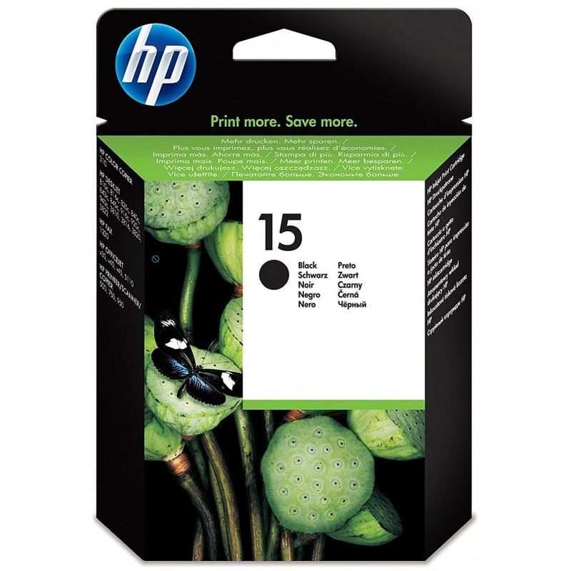 HP 15 Black Ink C6615DE