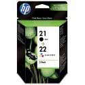 Ink HP 21 Black and 22 Color SD367AE