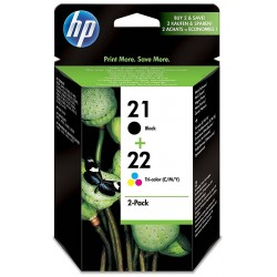 Tinta HP 21 Negro y 22 Color SD367AE
