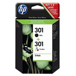 Tinta HP 301 Pack Negro/Color N9J72AE