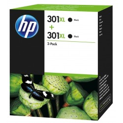 HP 301XL Black Ink Units x2 D8J45AE