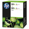 Tinta HP 301XL Color x2 Unidades D8J46AE