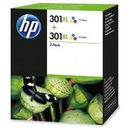 HP 301XL Color Ink Units x2 D8J46AE