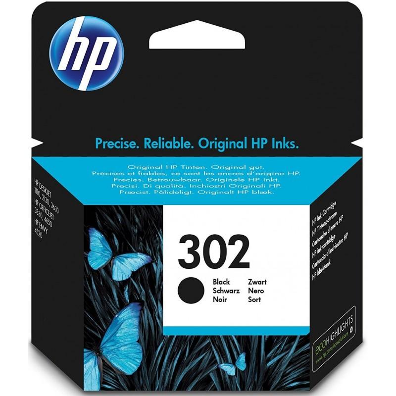 HP 302 Black Ink F6U66AE