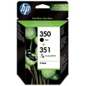 Tinta HP 350 Negro y 351 Color SD412EE