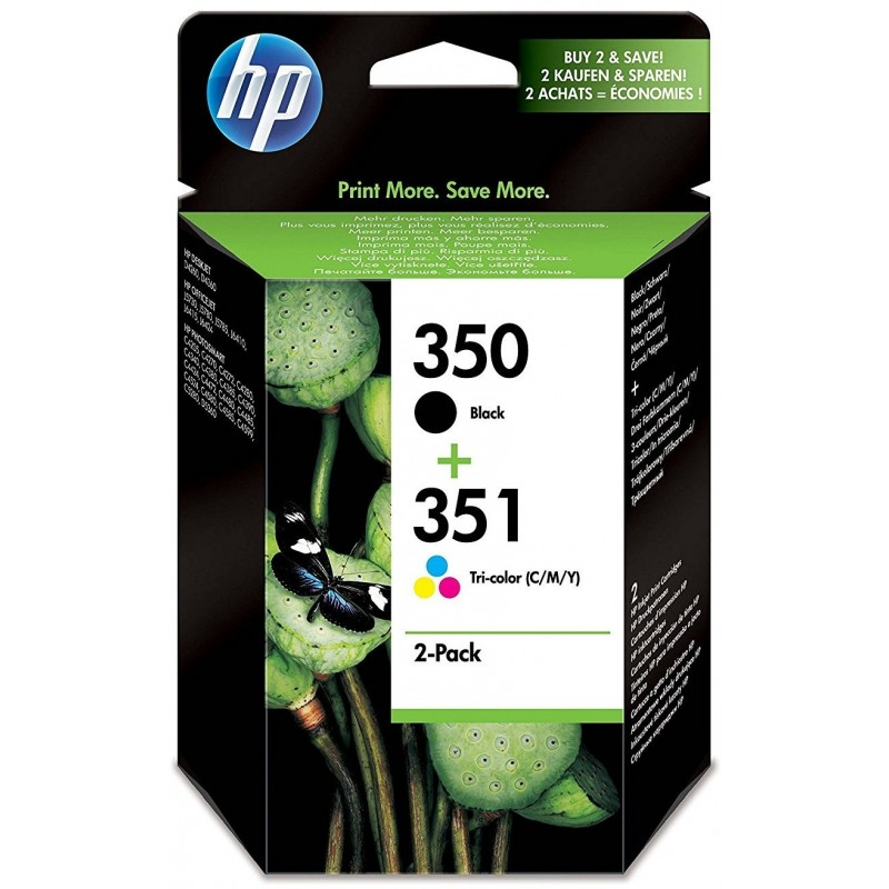 HP 350 Black Ink and Color 351 SD412EE