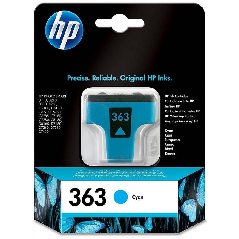 Tinta HP 363 Cian C8771EE