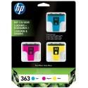 Tinta HP 363 Pack de los 3 Colores CB333EE