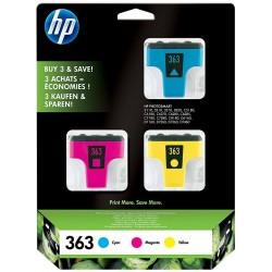 Tinta HP 363 Pack de los 3...