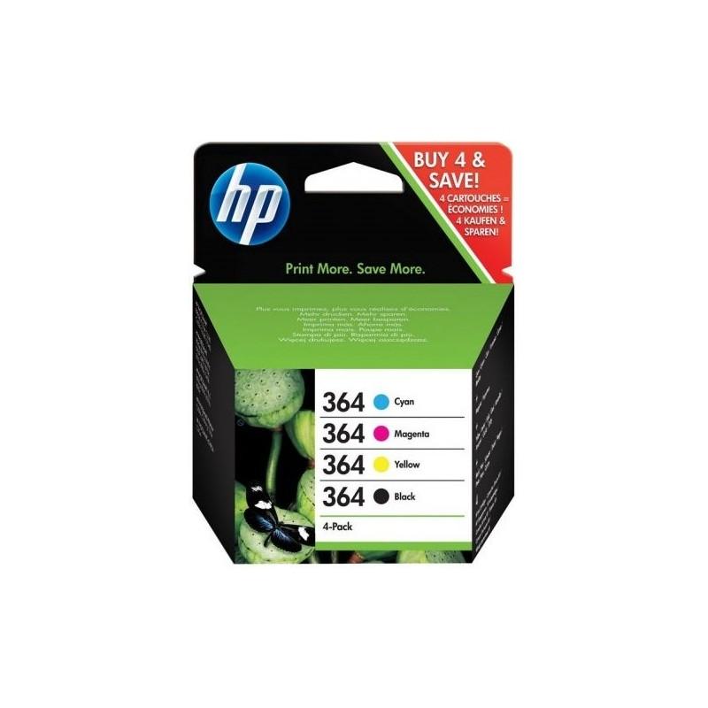 Tinta HP 364 Pack de los 4 Colores N9J73AE