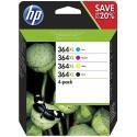 Tinta HP 364XL Pack de los 4 Colores N9J74AE